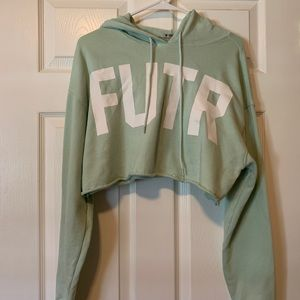 "Forever 21 ""FUTR"" cropped hoodie"
